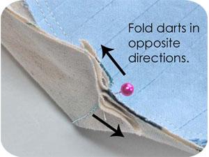 Fold darts
