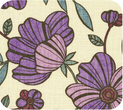 Purple cotton canvas