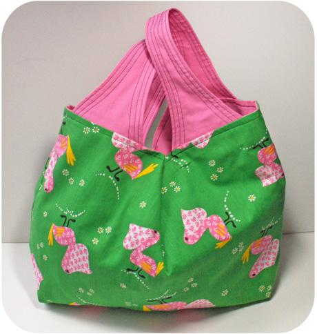 Pinkpelicangrocerybag