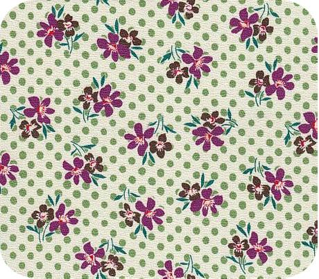 Daisy Dot fabric available at superbuzzy.com
