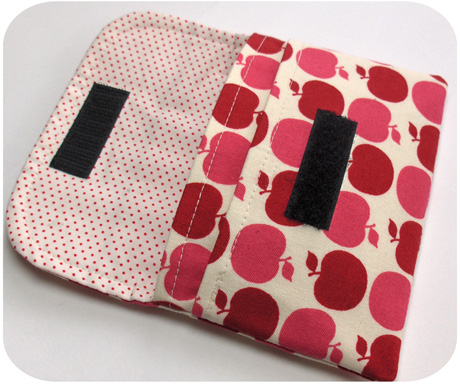 Simple Wallet in Sandi Henderson's Apple Dot Print