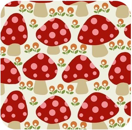Blank Textiles Dottie Mushroom Red