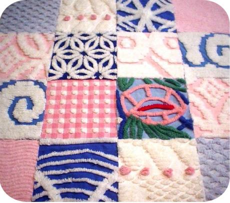 Vintage Chenille Quilt Squares - {michellepatterns.com} : chenille quilts - Adamdwight.com