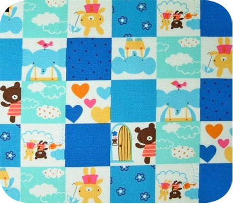 cute patchwork cheater print with animals