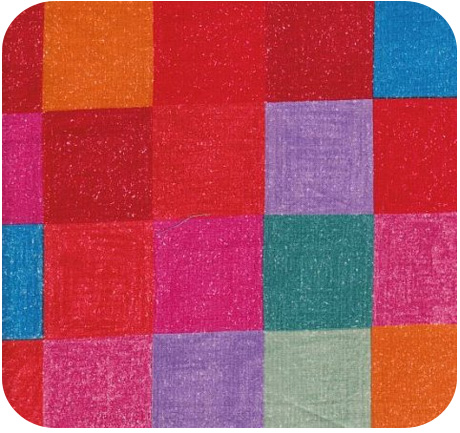 Keiko Goke Three Squares Fabric in Red