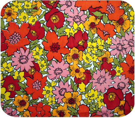 Vintage 1960s Flower Garden Pop Fabric Michellepatterns