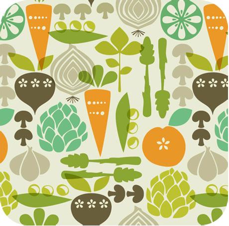 Anna Griffin Kitchy Kitchen Fabric Vegetable Garden