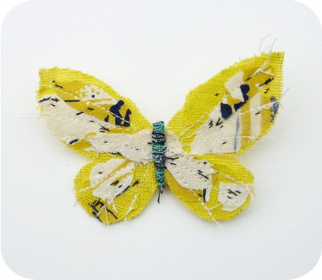 Fabric butterfly yellow