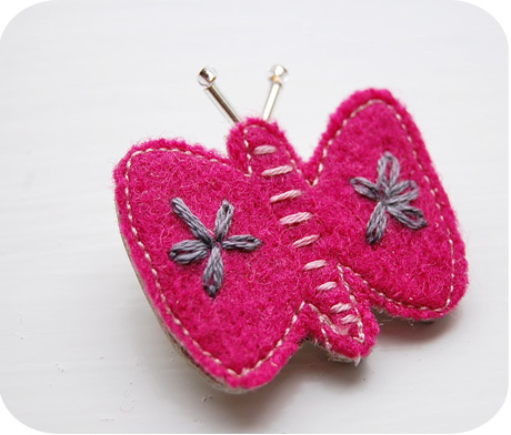 Fabric butterfly wool