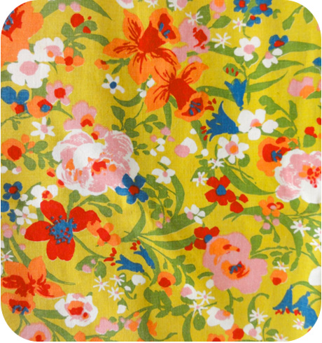 Mid Century Mod Floral Fabric