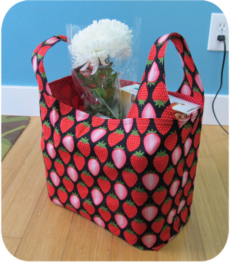 Strawberry grocery bag