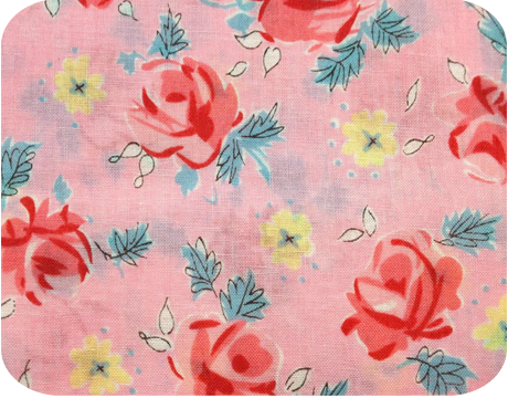 Floral Rose Pink Japanese Cotton Print Fabric