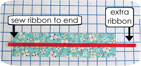 Sew ribbon