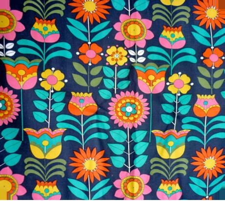 Vintage scandinavian mod fabric for Retro fabric