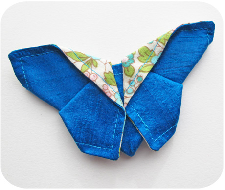 Blue origami butterfly blog image