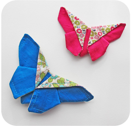 Pink and blue origami butterflies blog image
