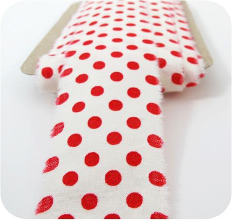 Fabric ribbon red dot blog image