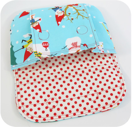 Christmas pouch inside blog image