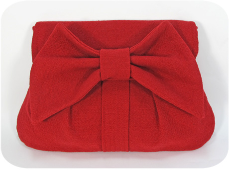 Red prairie cloth clutch blog image