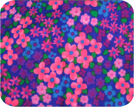 bright and beautiful vintage floral fabric - {michellepatterns}
