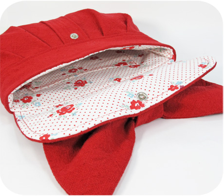 Red clutch inside blog image