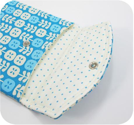 Blue pouch inside