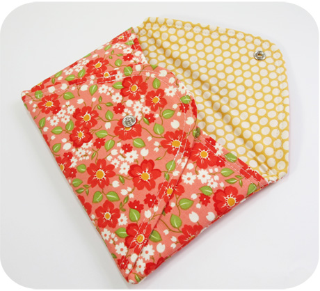 Pink envelope clutch inside blog image