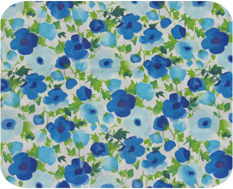 1960s Dress Fabric Vintage Floral Cotton - {michellepatterns.com}