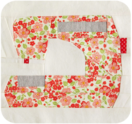 Paper pieced sewing machine blog image