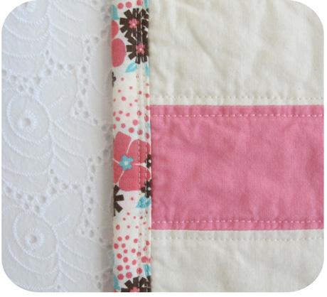 Pink Stripe Baby Quilt Blog Image