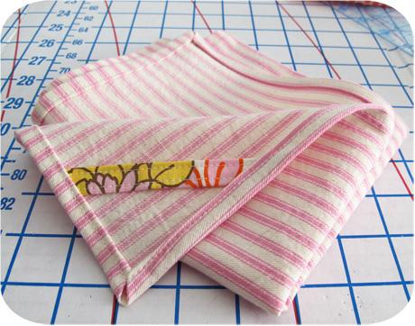 Pink Ticking Kitchen Towel Blog Image