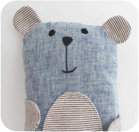 Blue linen bear blog image