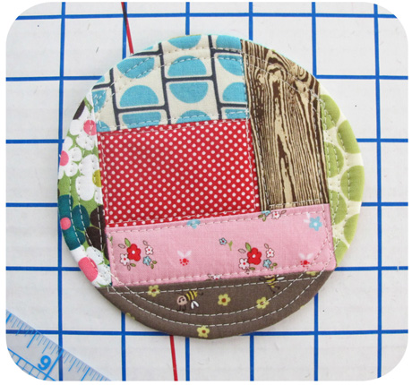 13-1 patchwork coaster