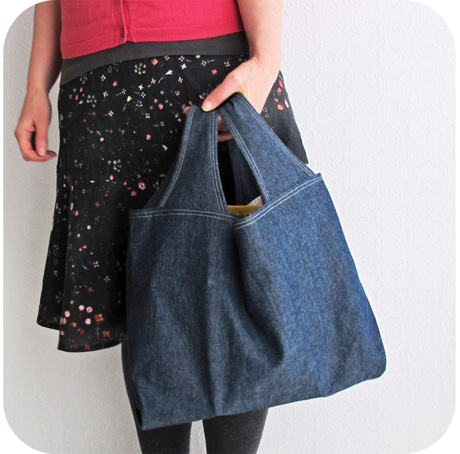 Denim grocery bag blog image