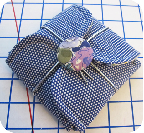 Blue Pin Dot Petal Pouch Blog Image
