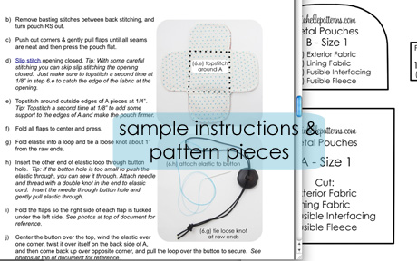 Instructions and pieces example photo