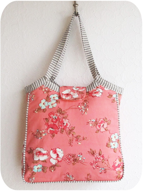 Pink Granny Tote with Shoulder Bag Length Handles