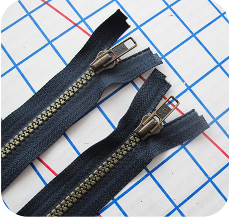 YKK Separating Zippers