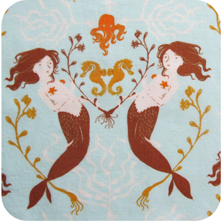 Heather Ross Mendocino Mermaid Fabric