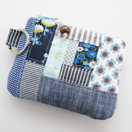 Patchwork Small Zip Pouch