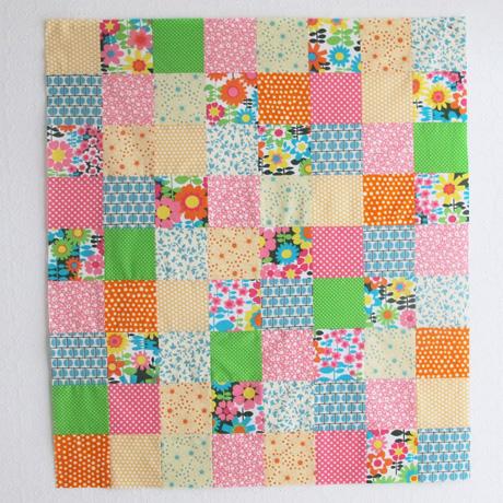 Baby quilt top