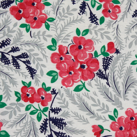 Quilt Patterns With Floral Fabric : Vintage 50s Floral Cotton Quilt Fabric - {michellepatterns.com}