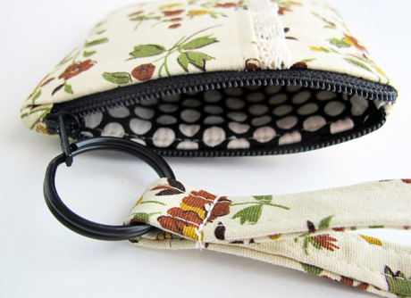 Zipper Pouch 5 Vintage Fabric Lining