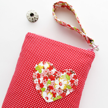 Applique Heart Pouch 2