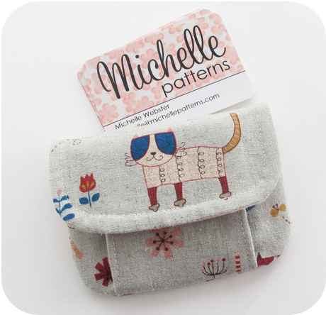 Mini Pleated Pouch Japanese Kitties