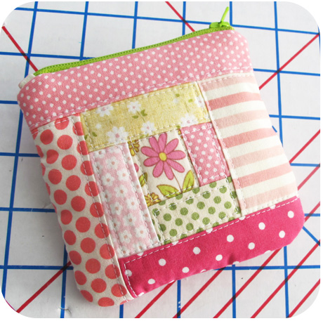 Pink Patchwork Coin Purse