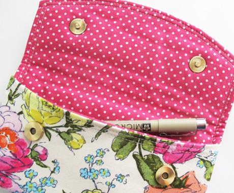 Sketchbook Pen Pouch Inside