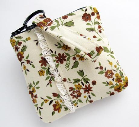 Zipper Pouch 5 Vintage Fabric