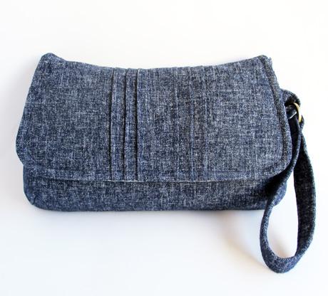 Large Blue Cotton Linen