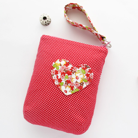 Applique Heart Pouch